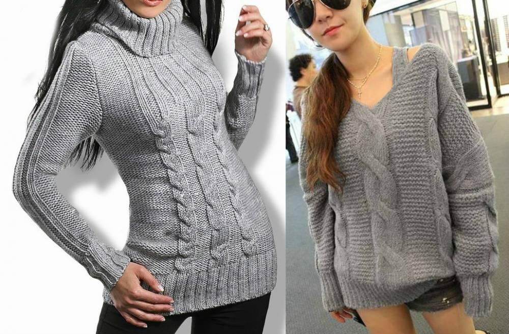 Платье свитер с крупной вязкой