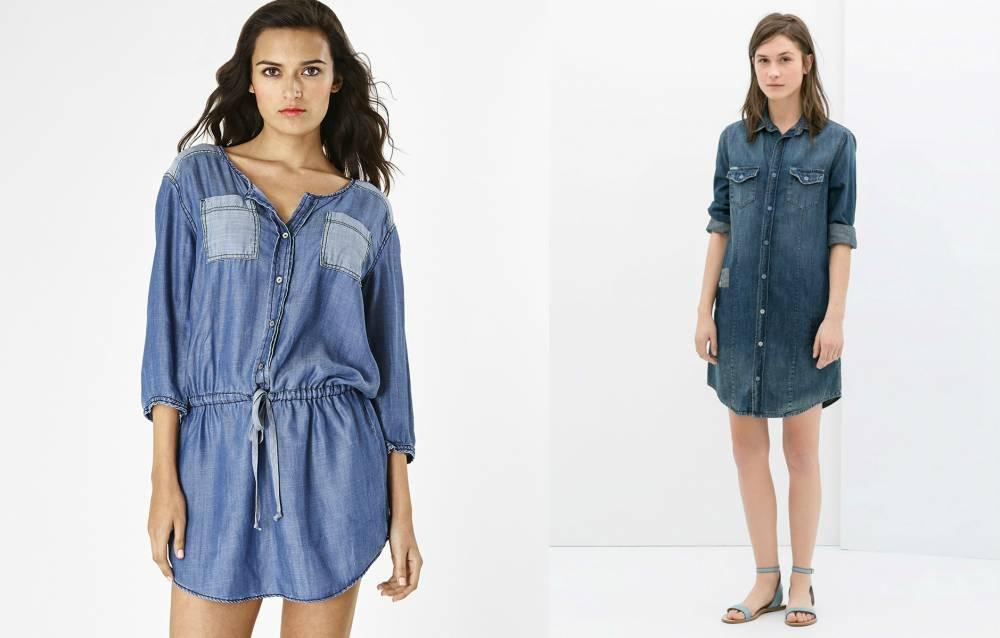 Сшить платье из тонкого джинса