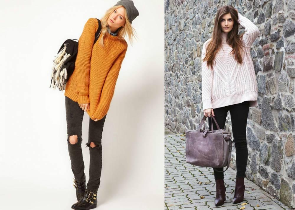 С чем модно носить свитер