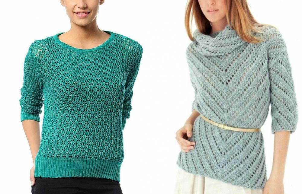 Как носить ажурный свитер