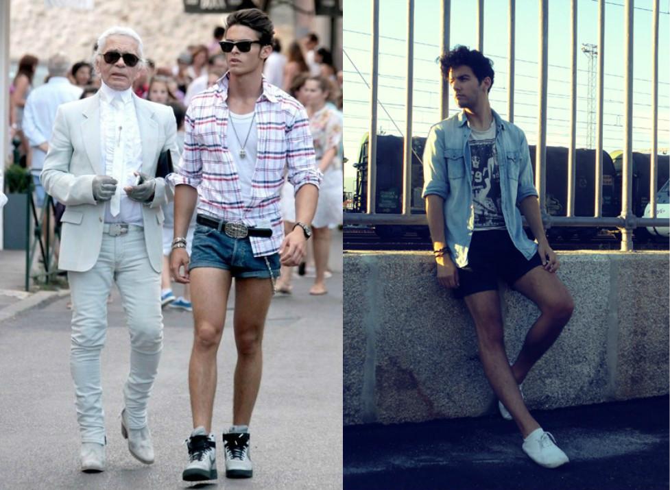 парни узкие короткие шорты
