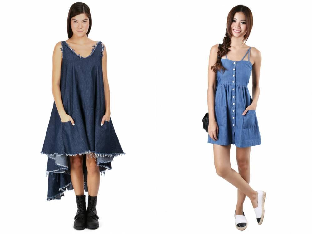 Платье из джинса модели