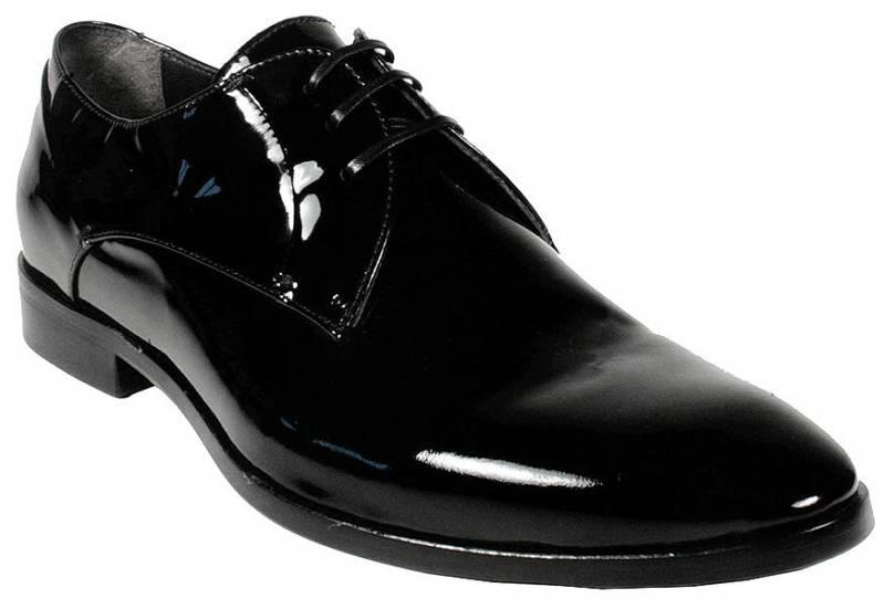 Лакированные мужские туфли на платформе