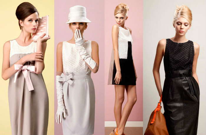 Платья стиле ретро