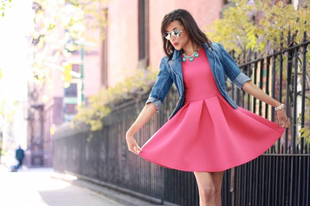 Лёгкое платье с джинсовкой