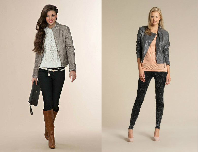 Что носить с серой курткой