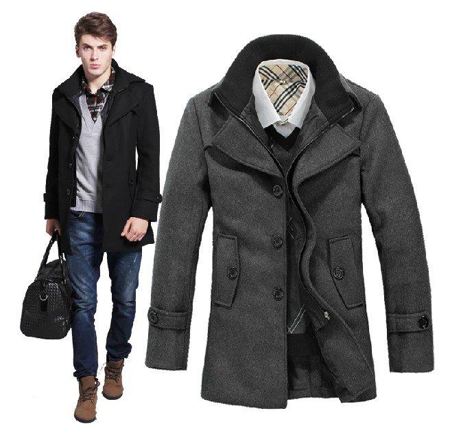 2013 новые мужские зимние пальто мужские пальто шерсти толстые теплые шерстяные пальто больших ярдов Мужчины
