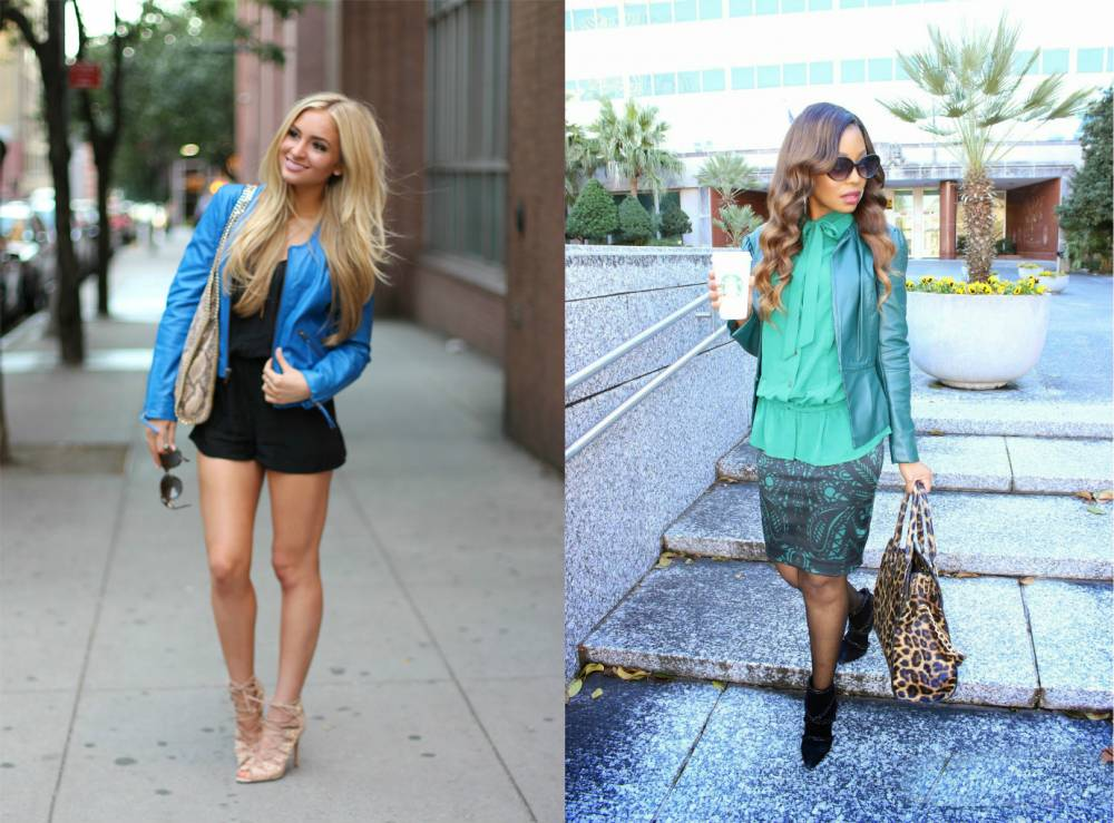 Голубая куртка женская с чем носить