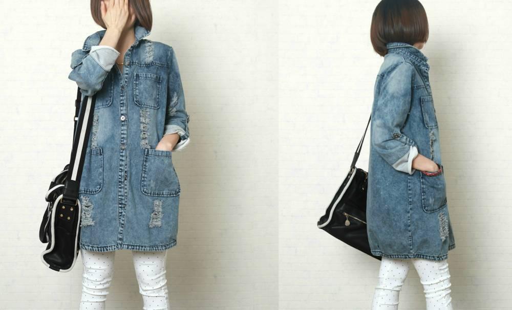Сшить пальто из джинсовой ткани 8