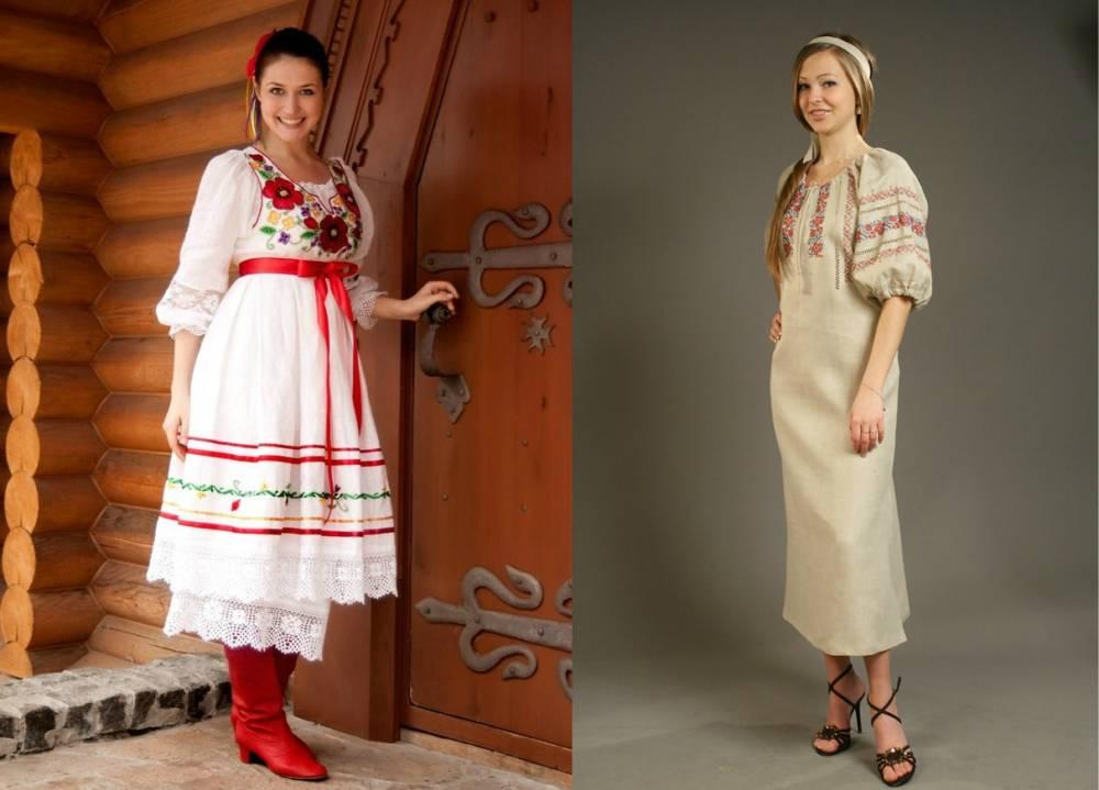 русском стиле рисунки одежды в
