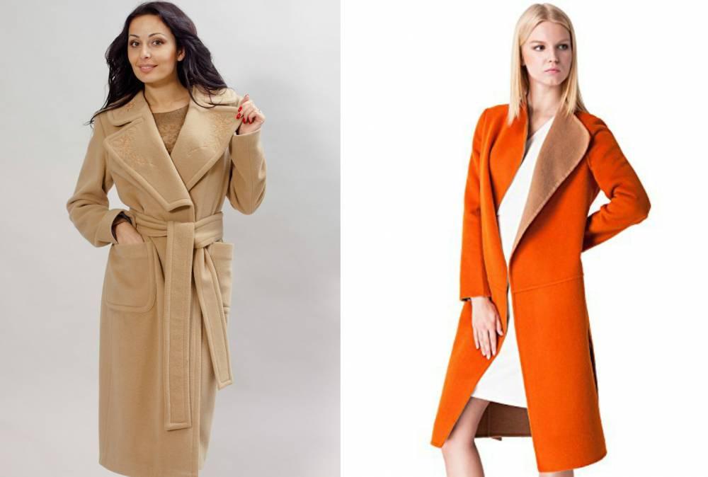 Купить бежевое кашемировое женское пальто