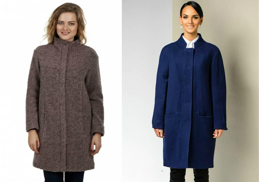 Как носить пальто прямого кроя