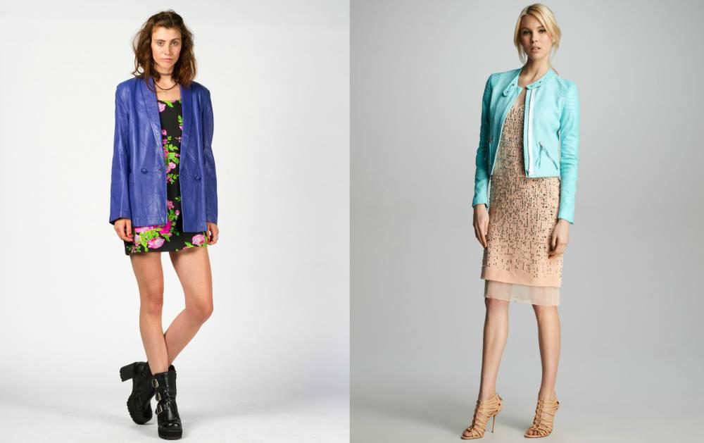 С чем носить женскую куртку голубого цвета