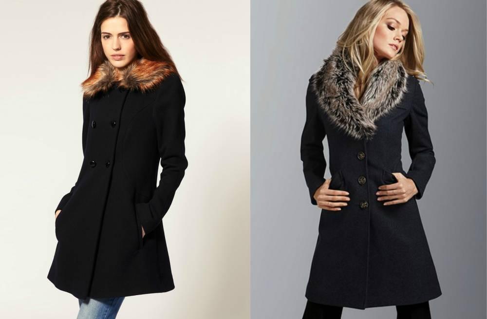 Купить Пальто С Меховым Воротником