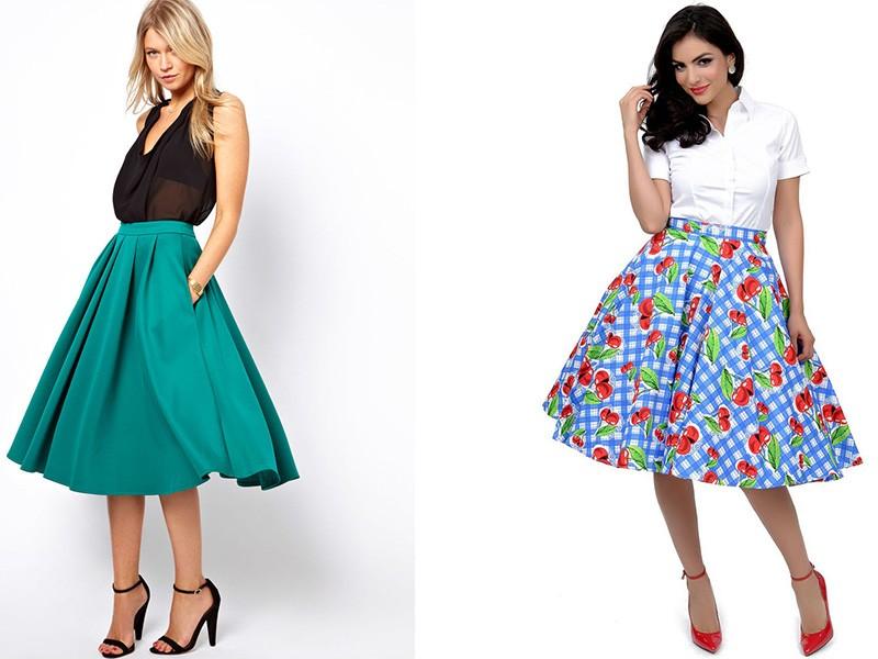 Платья и юбки 50 годов