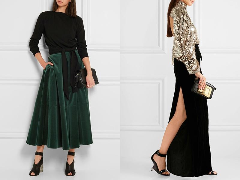 Бархатные юбки модные дорогие