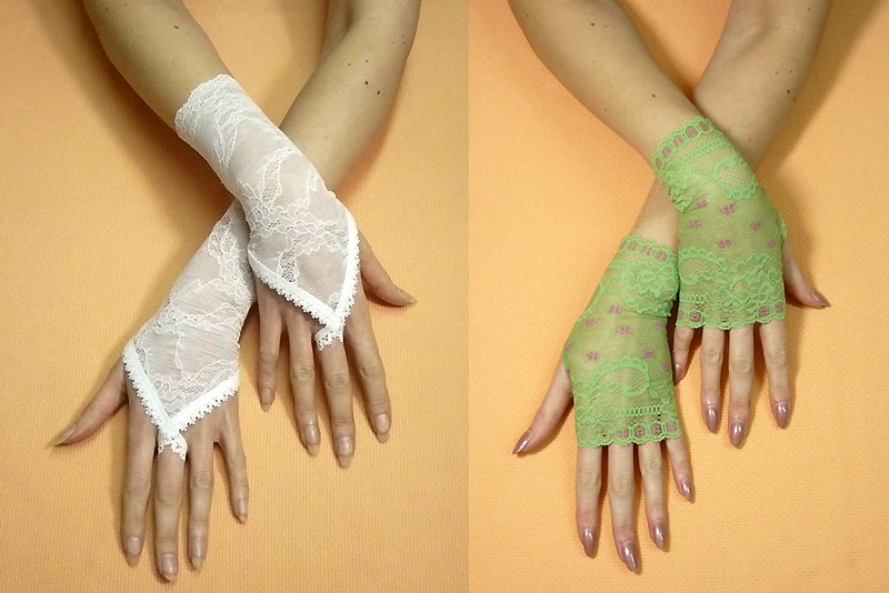 Длинные перчатки своими руками 337