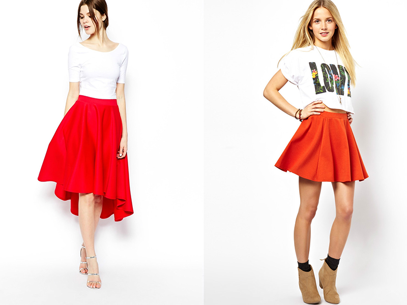 Красная юбка солнышком