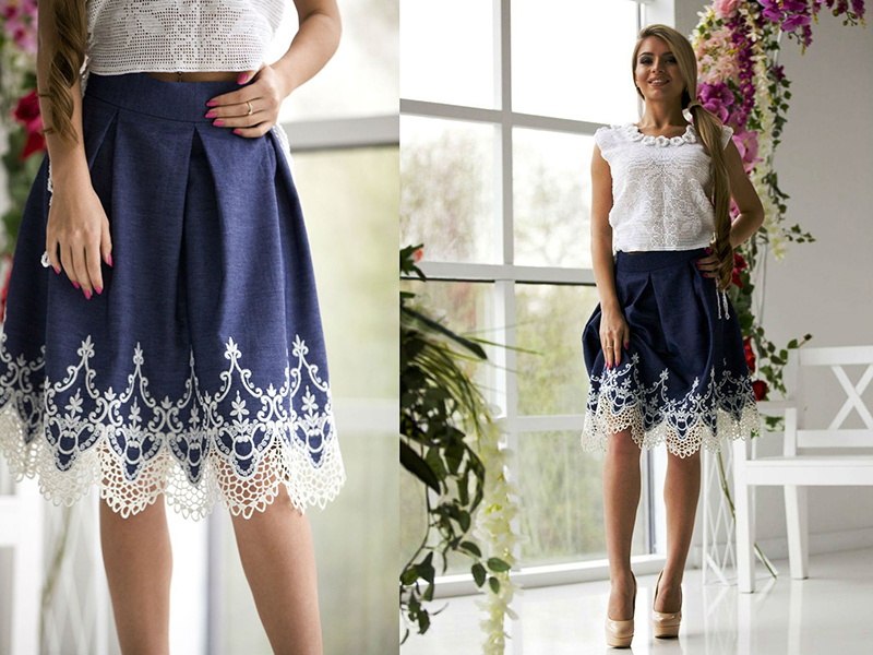 Как сделать из кружевные на юбки