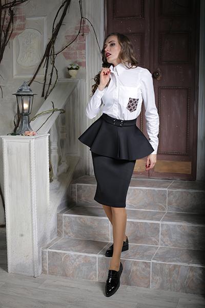 черная юбка белая блузка видео