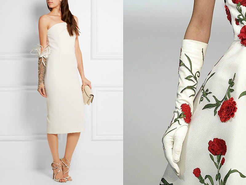 Перчатки для платья фото