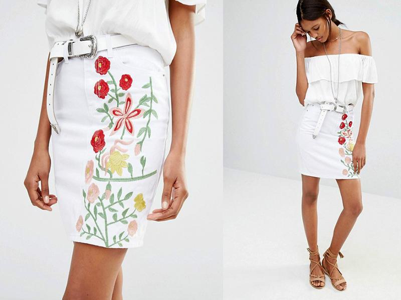 Подклад для белой юбки