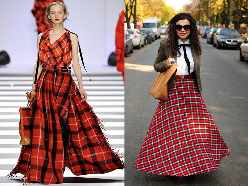 вязаное юбка в пол схема