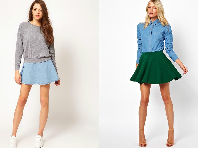 Какие юбки подходят с фигурой прямоугольник