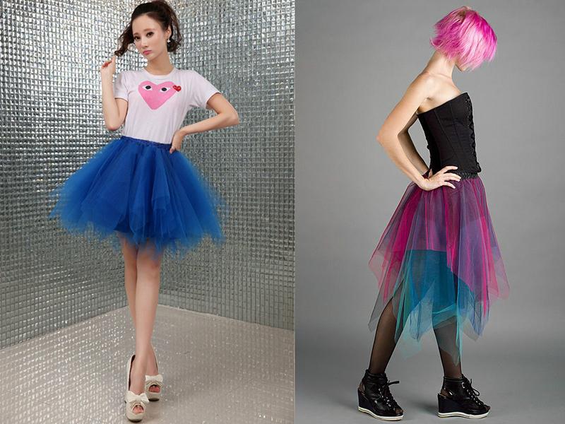 Пышные юбки многоярусные