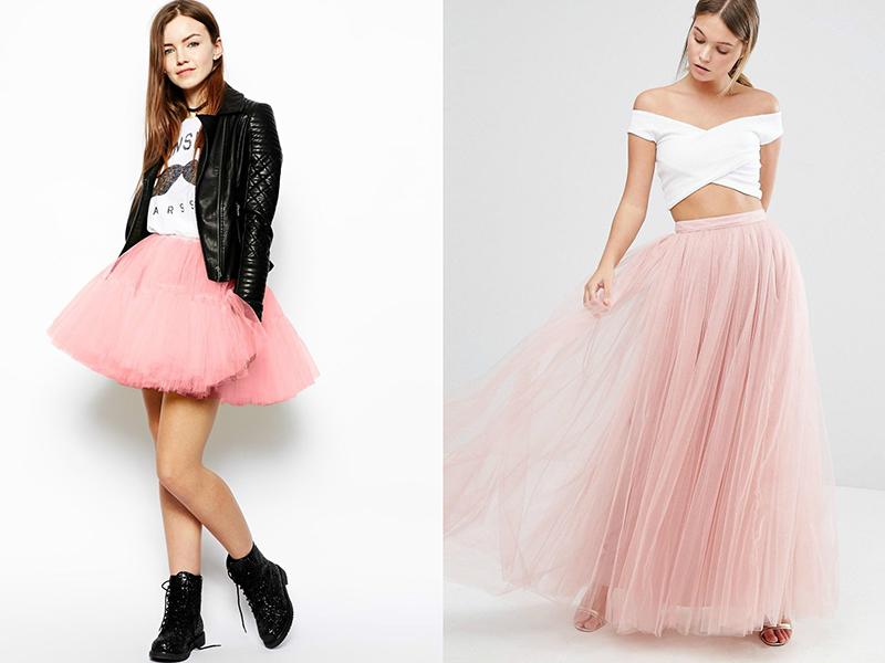 С чем одеть пышную розовую юбку