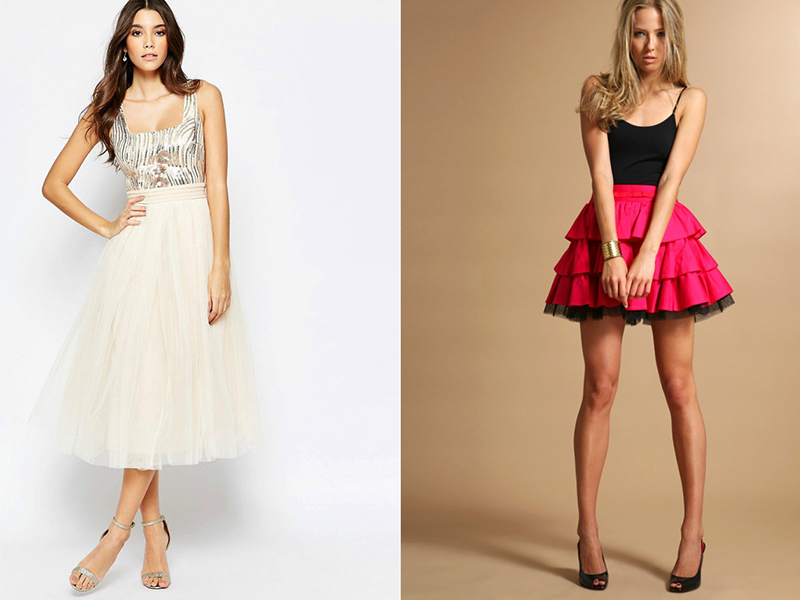 Корсет и юбка с завышенной талией