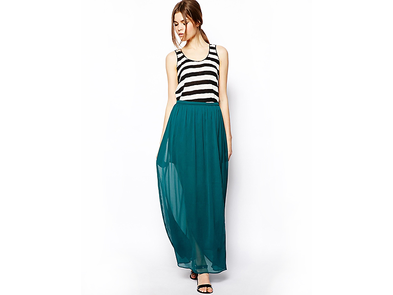 Длинная вискозная юбка
