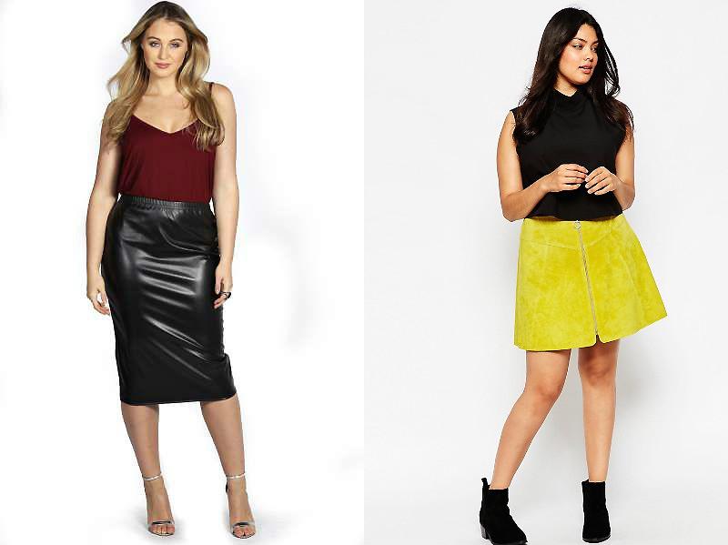 фото кожаные юбки для полных женщин