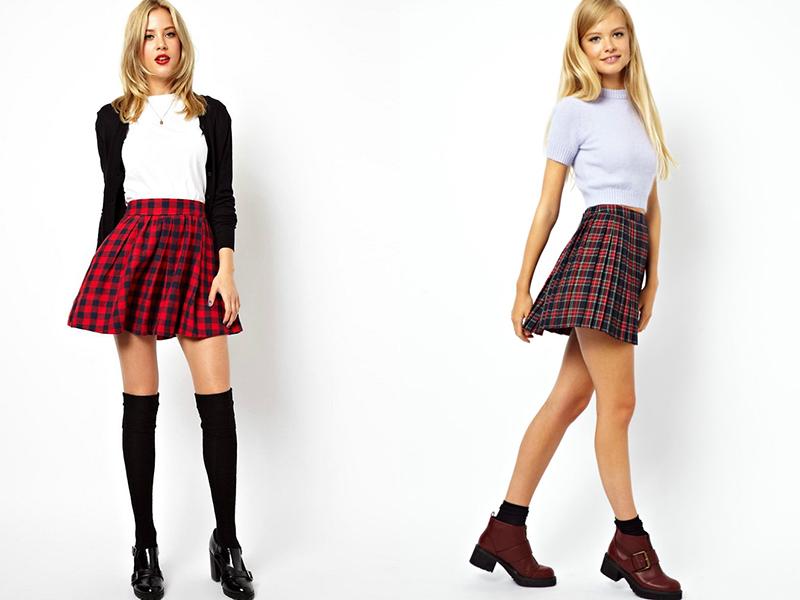 Студентка в белой блузке и черной юбке