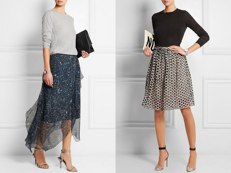 Шифон кофта и юбка