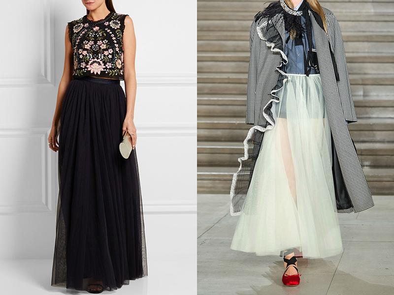 Длинные легкие юбки