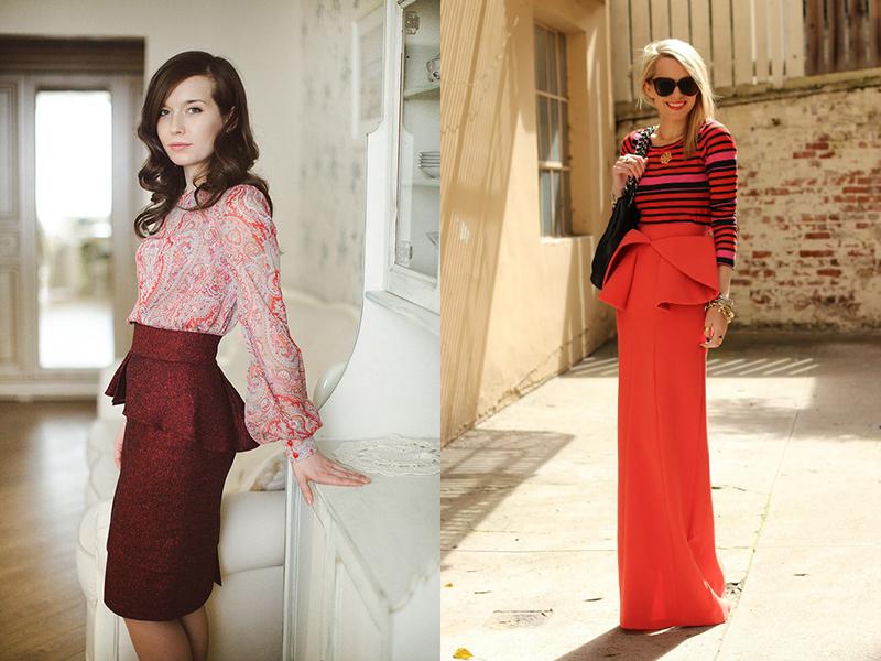 Красная юбка и топ кружевной