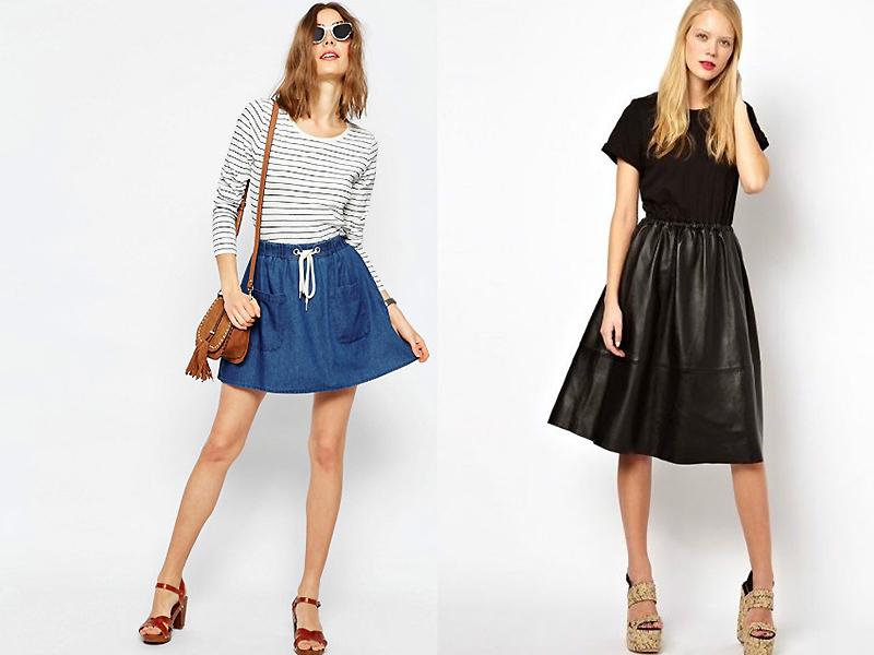 Комбинированные летние юбки