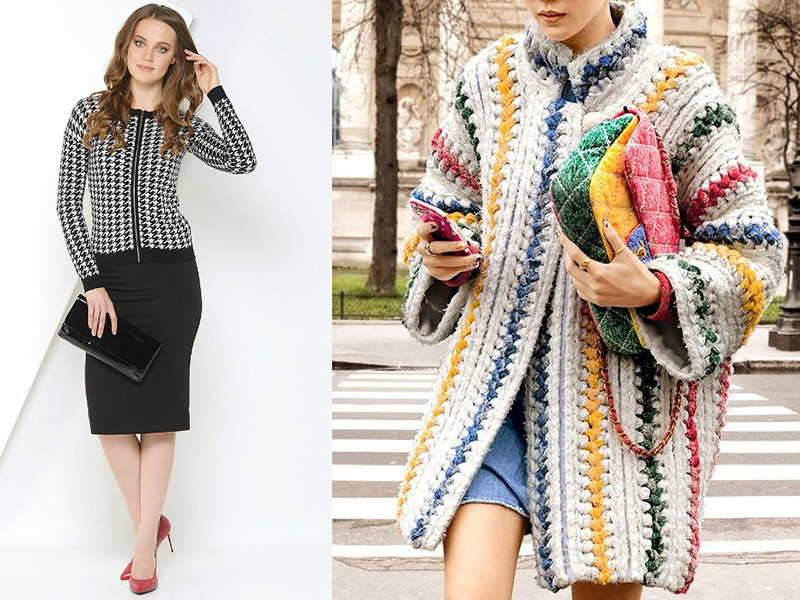 Вязанный кардиган в стиле Шанель: ретро стиль снова в моде, Мода от
