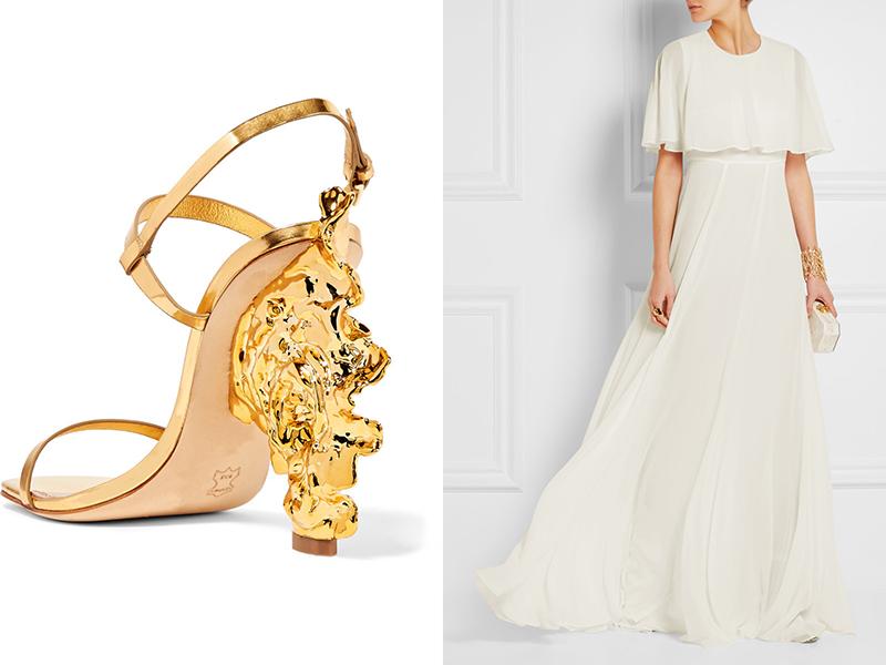 Свадебные босоножки – выбираем нарядную модель