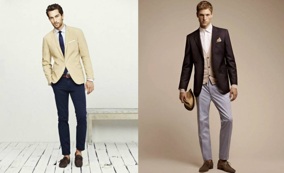Брюки и пиджак разного цвета