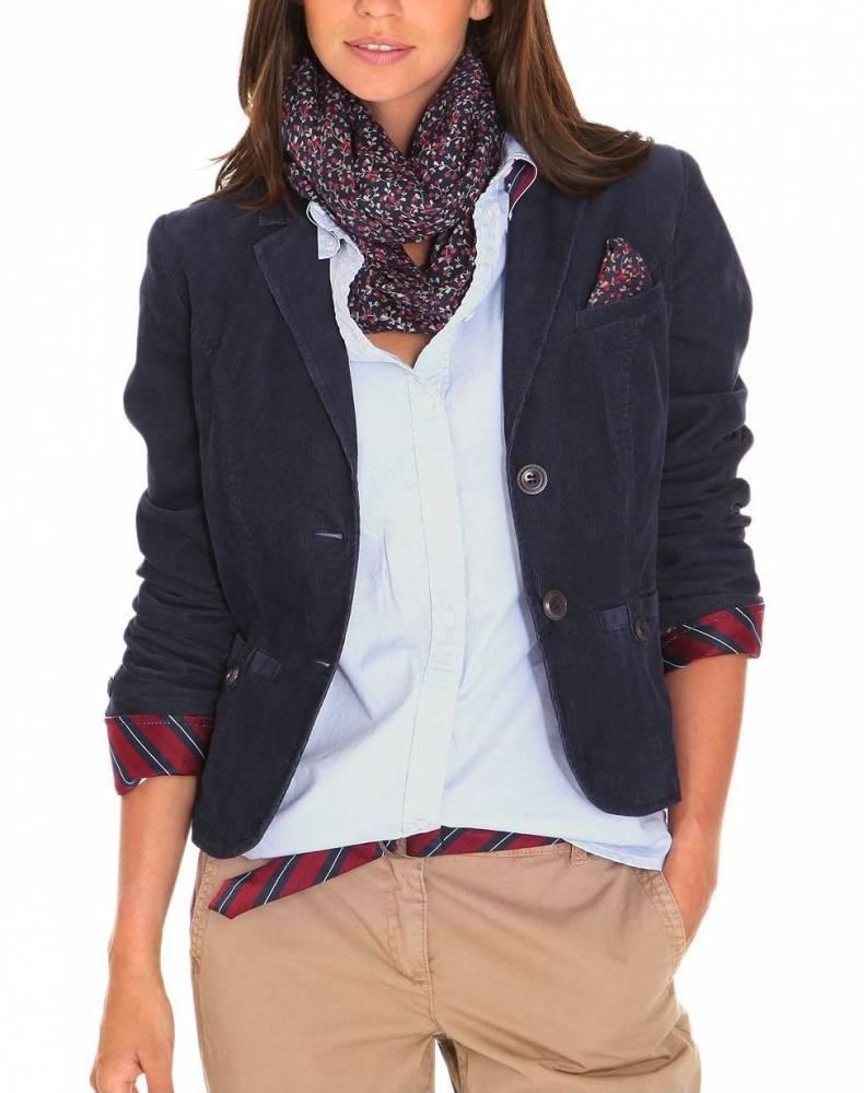 Модный женский вельветовый пиджак