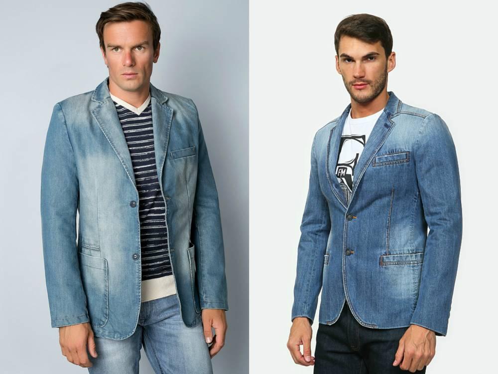 Джинсовые мужские пиджаки с чем носить фото