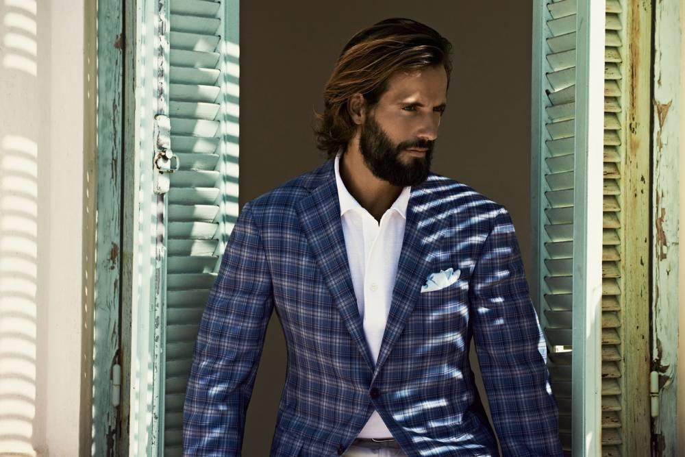 a5e2e7c33962 Мужской клетчатый пиджак  современная мода для стильных людей