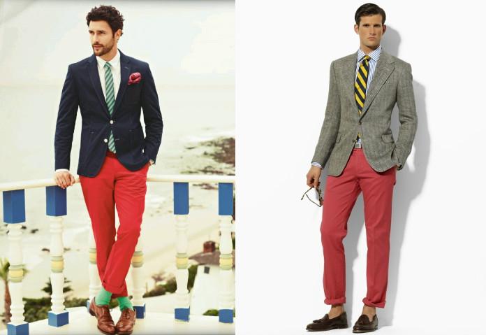 Пиджак и брюки разного цвета