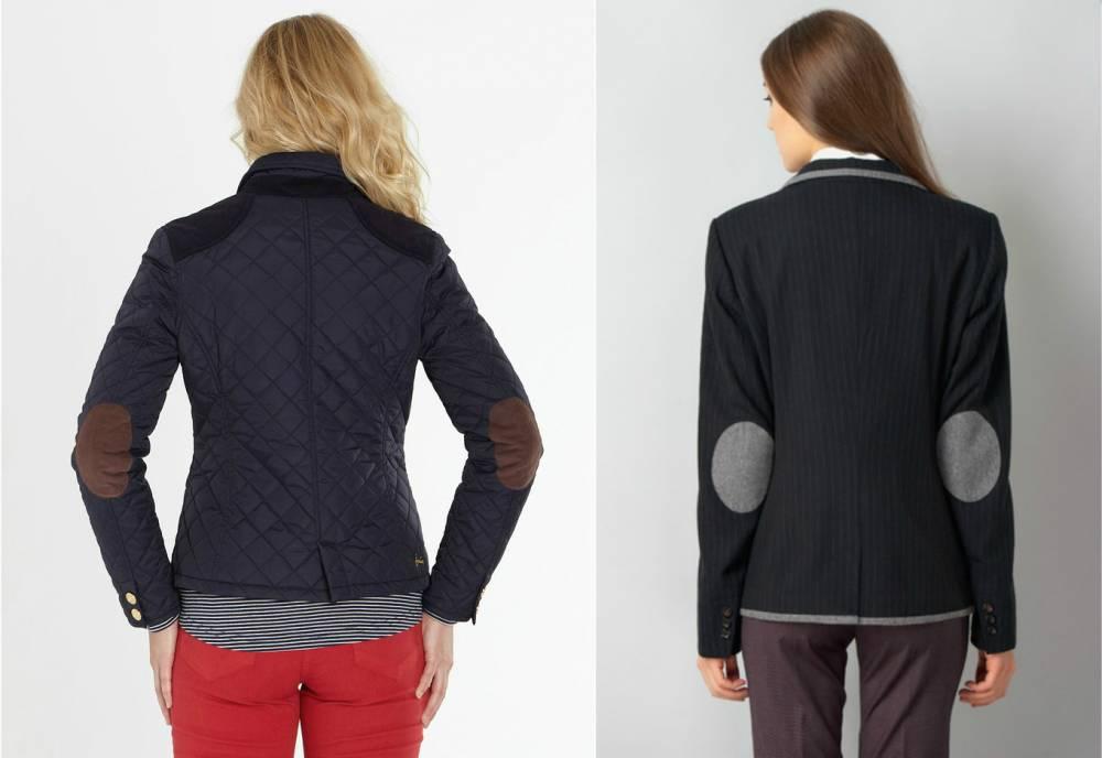 Выбирает синий пиджак с заплатками на локтях ... c0bf5629402