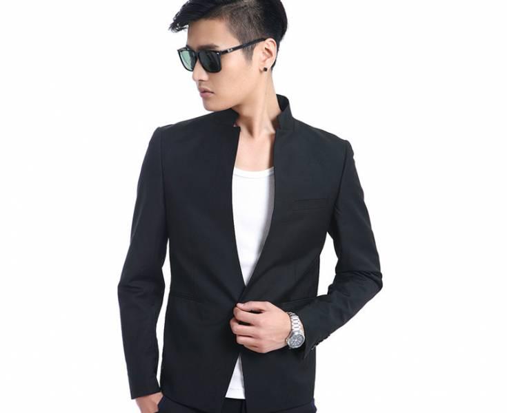 Мужской пиджак с воротником стойкой: строгость и ... С чем Носить Белый Пиджак Мужской