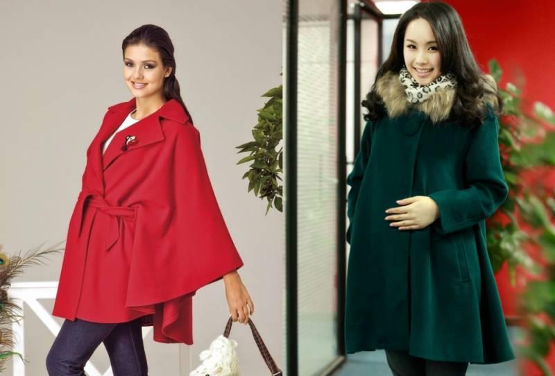 Обзор и фото лучших моделей пальто для беременных, Мода от
