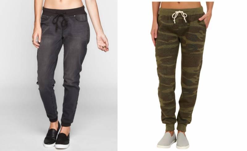Расширить и отпустить женские брюки