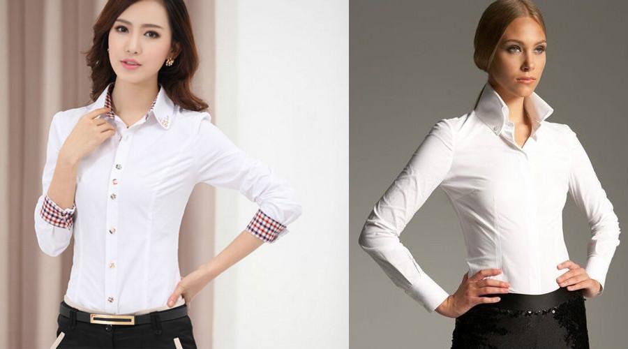 Блузки Рубашки Женские Классические